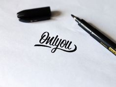 Typeverything: Photo #typography #pencil #script