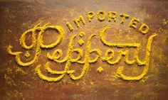 Typeverything.com  Peppery, instant yellow bath.... Typeverything #lettering #food