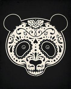 Day of the Dead Panda--Enkel Dika