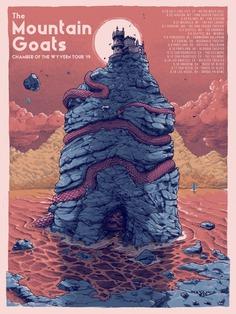 THE MOUNTAIN GOATS TOUR POSTER 2019