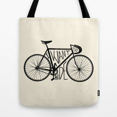 Bike Tote Bag Você pode comprar aqui / you can... #tote #bicycle #bike #bag #typography