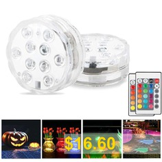 2 #Pcs #LED #Lantern #Diving #Light #Aquarium #Light #Vase #Light #24 #Key #Infrared #Control #- #MULTI