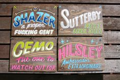 Ornamental Conifer: SIGNS #lettering #sign #ornamental #painting #conifer #hand