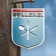 Bullerei – Restaurant & Deli – Corporate Design #signage #logo #photography