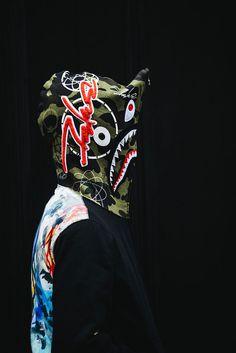 a-bathing-ape-x-futura-capsule-collection bape futura fashion hoodie shark
