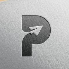 "P Logo Concept – from ""Paper Plane"""