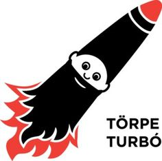Törpe Turbó (Titchy Turbo) #titchy #rocket #logo #character #midget #turbo