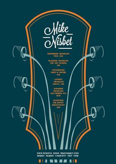 Mike Nisbet 2013 Tour Poster #guitar #gig #design #graphic #mike #paint #illustration #nisbet #poster #music #tour