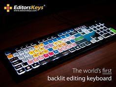 Backlit Editing Keyboard #tech #flow #gadget #gift #ideas #cool