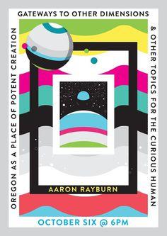 Aaron Rayburn Design Week Portland lecture poster #rayburn #vector #modern #aaron #portland