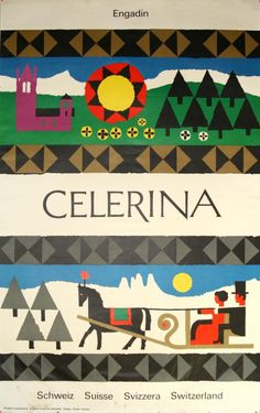 Swiss poster by Robert Geisser, 1960s