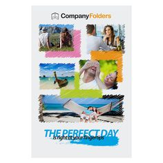 Perfect Day Travel Documents Folder Template #illustrator #travel #template #ai #document #brochure