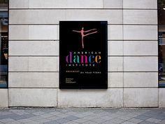 American Dance Institute Branding #design #color #branding #typography
