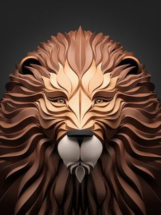 Predators – Amazing Digital Art by Maxim Shkret #predators #lion #digital #illustration #art