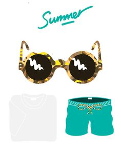 Summer inspired illustration this morning, this is what I #pattern #arnold #illustration #summer #fashion #style #michael