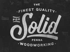 Solid. #logo #lettering