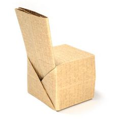 How to make a simple regular origami chair (http://www.origami-make.org/howto-origami-chair.php)