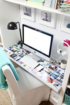 IHeart Organizing: A Little Desk Refresh #office #home #workspace