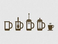 Dribbble - Coffee Icon System by Matthias J.G #coffee