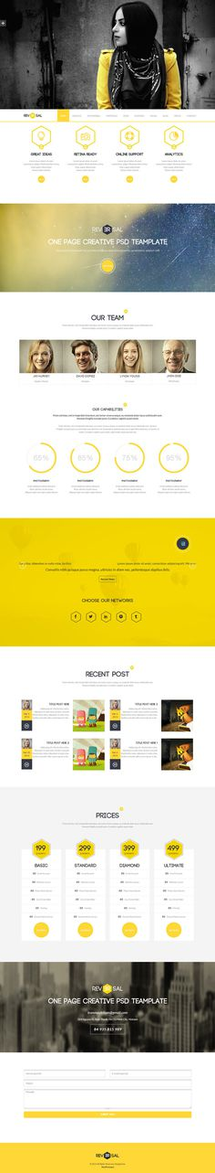 yellow, clean #simple #yellow #clean #web design #concept #drupal