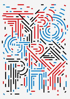 Typography poster by Sasaki Shun #design #graphic
