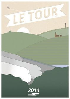 Tour de France #geometric #landscape #yorkshire #minimal #poster #le #cycling #tour