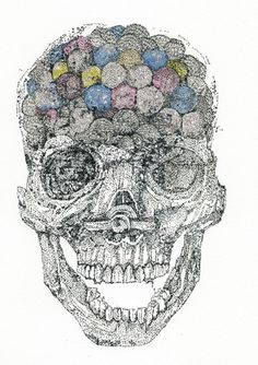 Spectacular Images Constructed from Letters by Erin Smith | Art Sponge #letters #smith #erin #image #art #skull #drawing