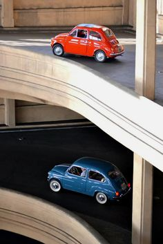 Fiat 500 & 600 #fiat #color #tilt #photography #shift
