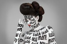 Aizone Typographic Body Painting Campaign #campaign #advertising #paint #aizone #typography