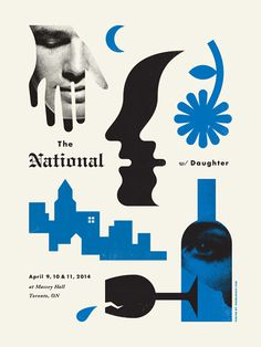 The National / Daughter - Doublenaut #gig #poster