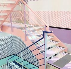 Present&Correct #interiore #color #design #paint #architecture #stairs #pastels