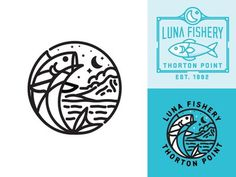 Luna Fishery #fishtown #illustration #fish