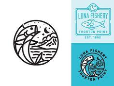Luna Fishery #fishtown #illustration #fish