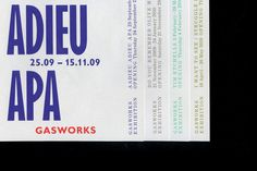 Gasworks - OK-RM #art #gallery #identity #stationery #branding