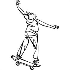 #illustration #KathrynRathke #linework #skate