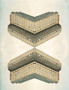 Series - Hannes Caspar #mirror #buildings