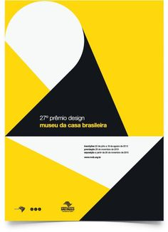 27º Prêmio Design MCB #graphic design #type #poster #modernism #geometric #numbers