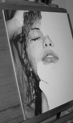 Amazing realistic portraits by Diego Fazio #white #graphite #black #realism #hyper #drawing