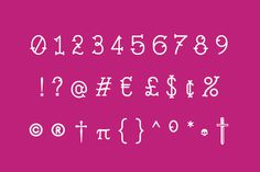 Swashbuckle - http://www.youworkforthem.com/font/T5242/swashbuckle #font #pink #serif #mexican #punctuation #ampersand #numbers #type #pirate #typography