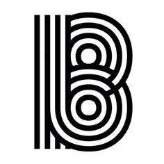B #type #cap #lines #typography #display