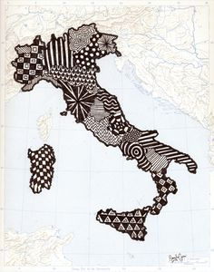 20 mondi d'Italia #illustration #atlas #drawing #italy