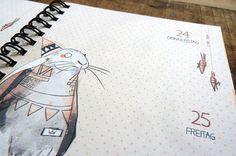 Prinzapfel Calendar 2014 #calendar #doogle #prinzapfel #planner #illustration