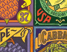 Michael Doret - 12 Years in the Making: Fruit & Vegetable Stamps for the USPS #usps #stamps #stamp