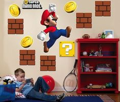 Super Mario Bros Wall Decals #gadget
