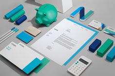 Nickel Labs Logo Branding Stationery designed by Javier Garcia