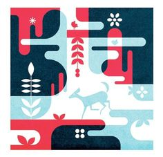 FFFFOUND! #forest #illustration #deer #geometric