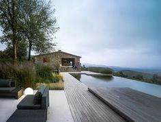 Jesús Granada #house #stone #pool #architecture #single