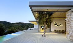Greek Island Mansion with Beautiful Stone Walls by Z-level - #architecture, #house, #housedesign