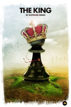 365 Concepts (The King) #chess #365 #concepts #illustration #manipulation #poster #king #green