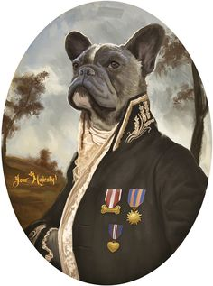 French bulldog portrait by Pablo Estepan  #bulldog #portrait #illustration